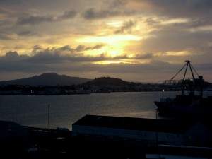 Sunrise, Auckland Harbour, Auckland, North Island, New Zealand
