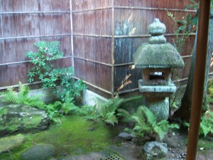 Small courtyard in tea house