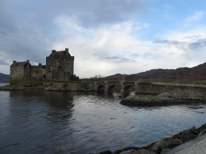 "Eilean Donan Castle near the Isle of Skye. Known as ""The most photographed castle in Scotland"" it was made famouse in the ""Highlander"" television series where the opening sequences were shot"