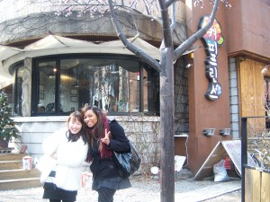 Yun Hee and I at a Korean coffee shop