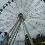 This ferris wheel gave us a GREAT view of Manchester and took us around seven times!
