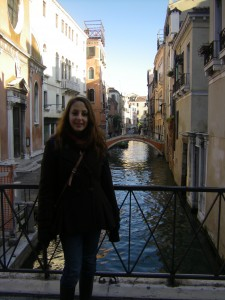 Me on the Watery streets of Venice