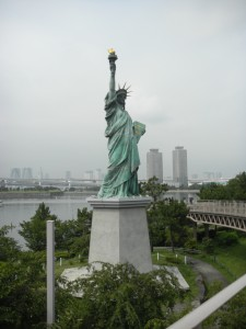A smaller Statue of Liberty at Odaiba