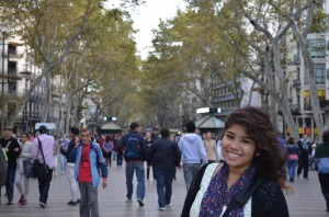 La Rambla at any point in the day is nice for a stroll. Be sure to try one of the waffle treats at one of the vendors.