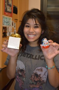 My roommate gave me a fancy box filled with Ferrero Rocher. I also got to eat my very first Kinder Sorpresa...yum!!