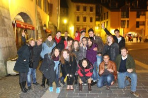 We even got to explore the Centre Ville of Annecy at night