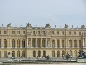 A view of the palace from the gardens.