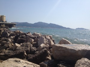 A view from the beach in Marseille