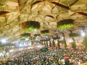 A Sea of People at Oktoberfest
