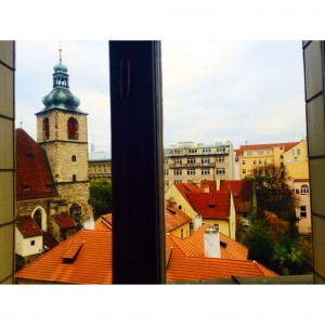 Going to miss this office view in Praha