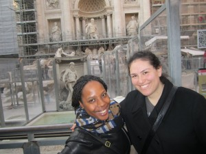 Roomies at the Trevi Fountain