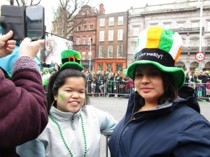 Joceline and I, Saint Patrick's Day Festival in Dublin