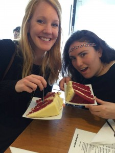 Red Velvet cake twinning with MK