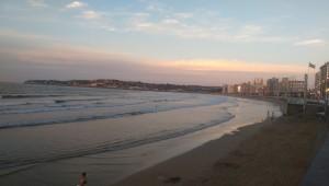 San Lorenzo beach in Gijon, Asturias