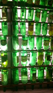 Cider bottles tower in Gijon, Asturias