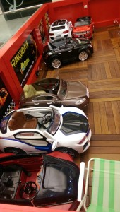 Dreaming in Spain, cars for rent for little ones to drive throughout the mall
