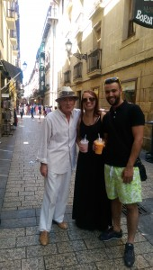 Random guy said he is a native from San Sebastián and decided to be in the picture!!!
