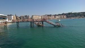 Diving bridge in San Sebastián, Basque Country