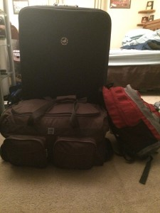 Packed and hopefully ready*