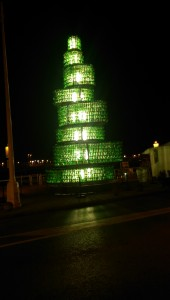 Tower of Sidra Bottles in Gijón
