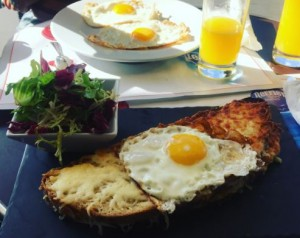 First meal off the plane! It's called Croque Madame.