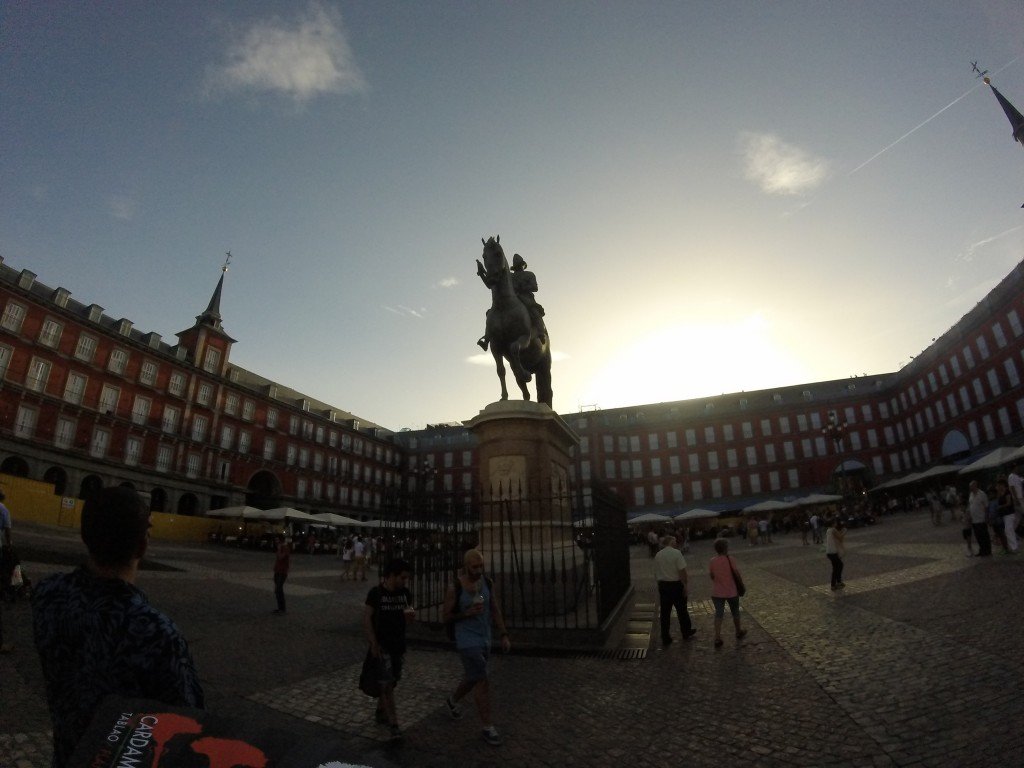 King Phillip III Statue and beautiful and very historic Plaza Mayor.