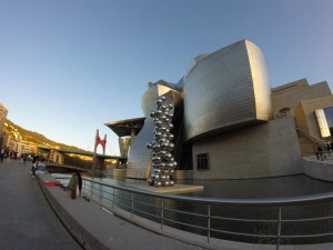 Bilbao's famous Guggenheim Museum is clearly a must-see, and it's architecture says it all.