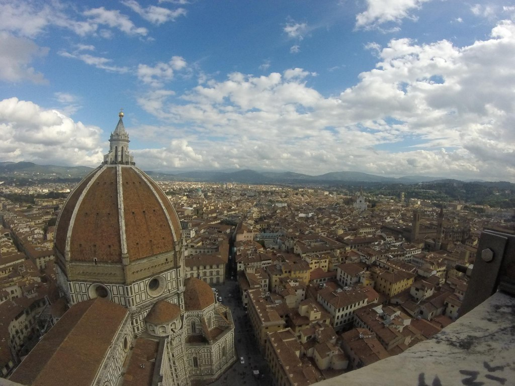 View of Florence from the top of Giotto's Bell Tower.