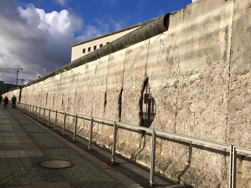 What's left on the historical and breathtaking Berlin Wall.