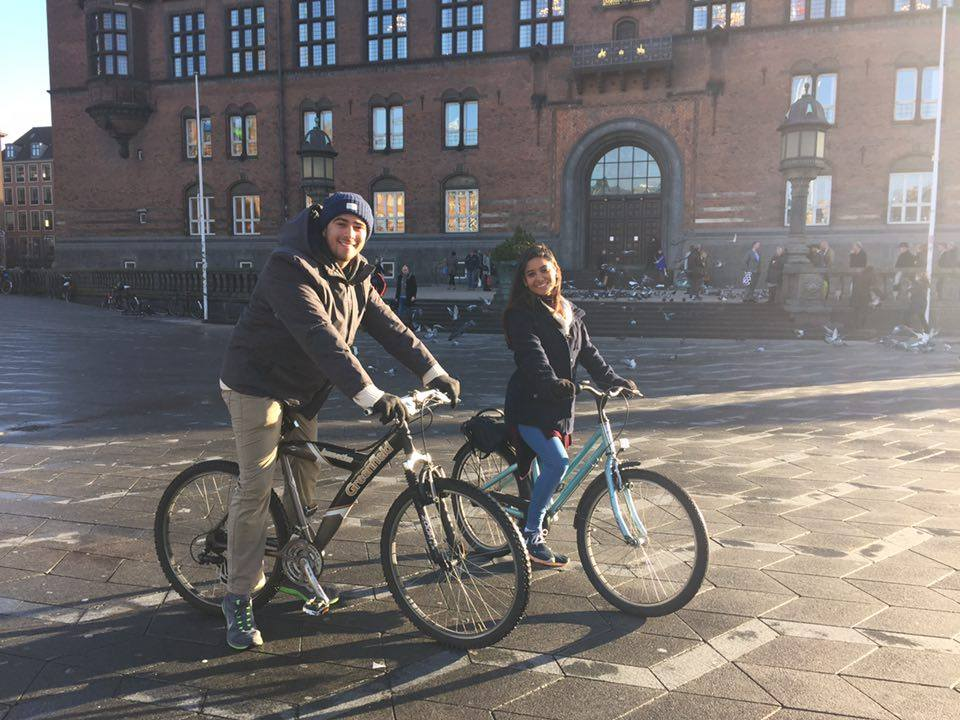 The trip wouldn't be complete without biking through the streets of Copenhagen.
