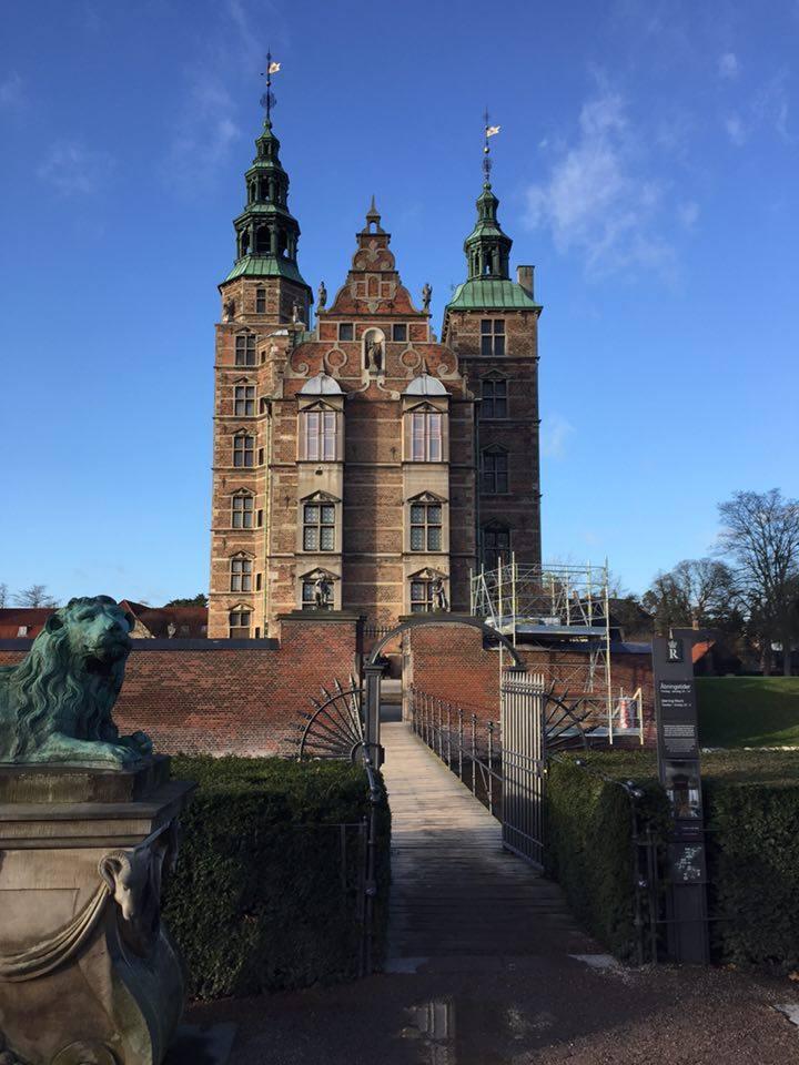 The beautiful Rosenborg Castle.