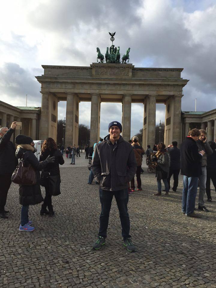 The famous Brandenburg Gate.