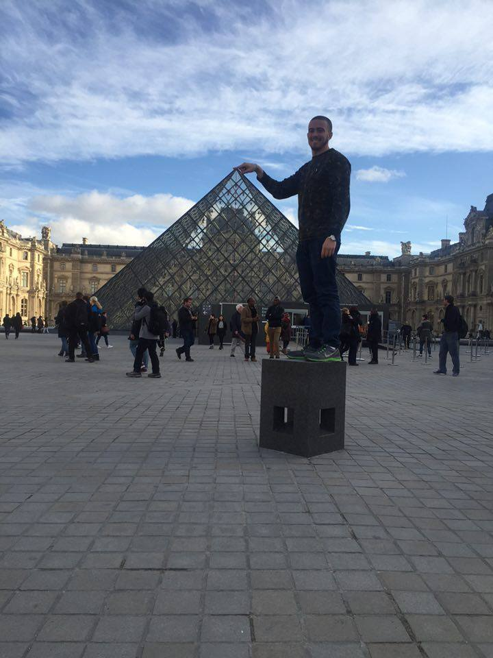 Typical Tourist Picture at the Louvre Museum in Paris.