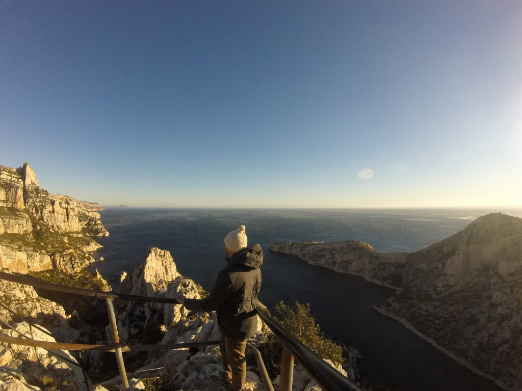 The top peak at the Calanques, also one of the windiest places I have ever been.