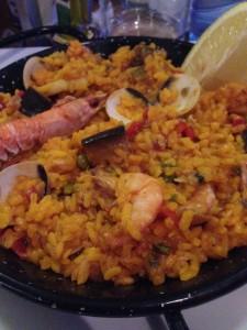 Paella from the restaurant Coco Tito