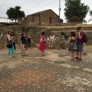 Looking at different flooring types in the House of the Doric Capital at Morgantina