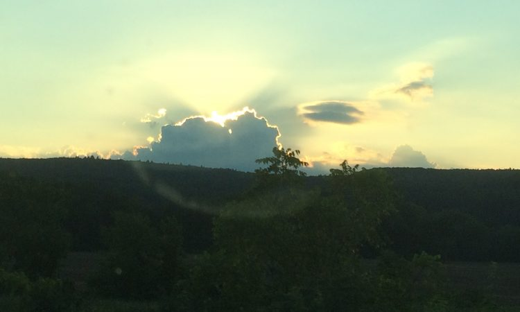 A glimpse of sunset over a Catskill Farmland, the homeland I'm currently saying goodbye to.