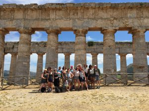 Visiting the temple at Segesta