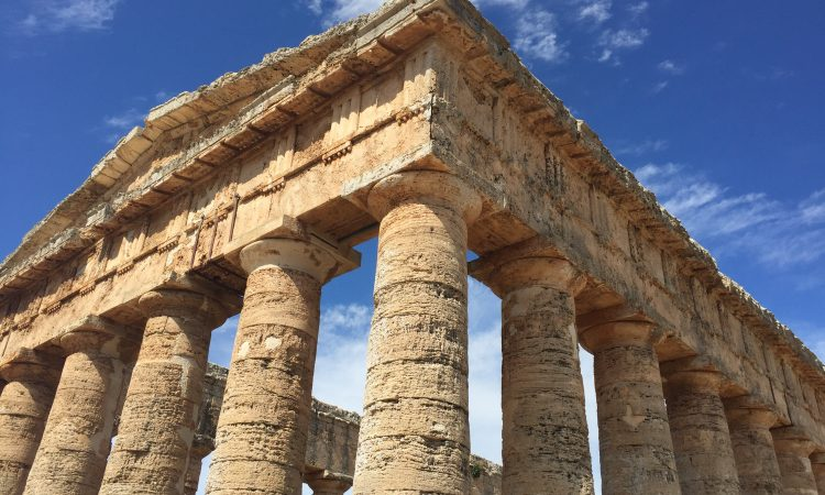 The ancient temple of Segesta, ca. 425-415 B.C.