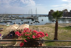 The view from our hotel in Castellammare del Golfo