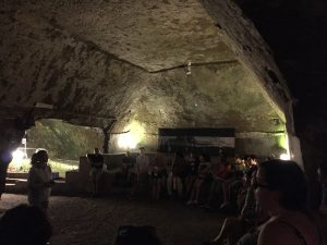 The start of the Naples Underground tour - more than 100 feet under the modern street level!